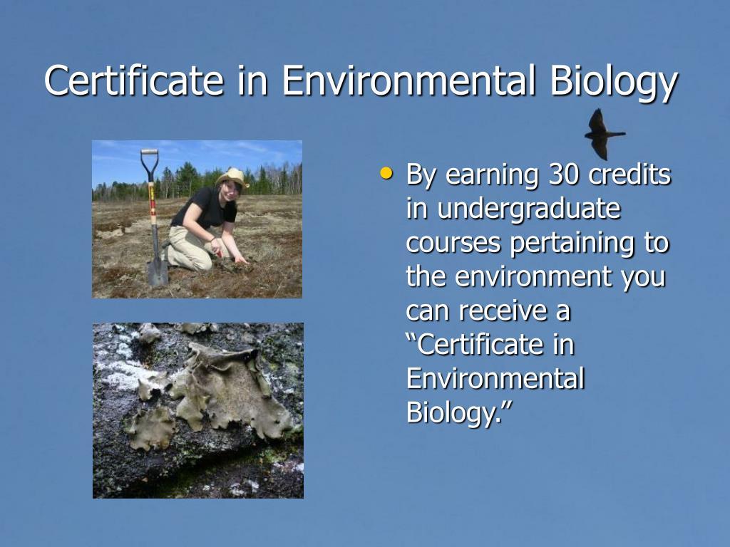 Certificate in Environmental Biology
