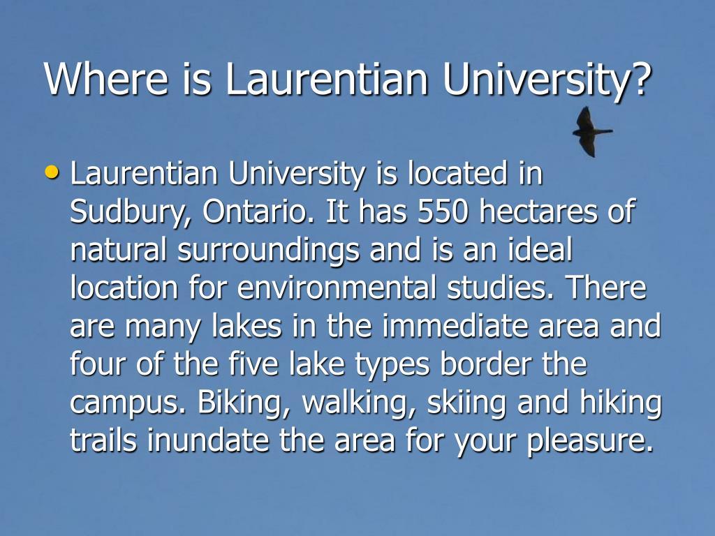 Where is Laurentian University?