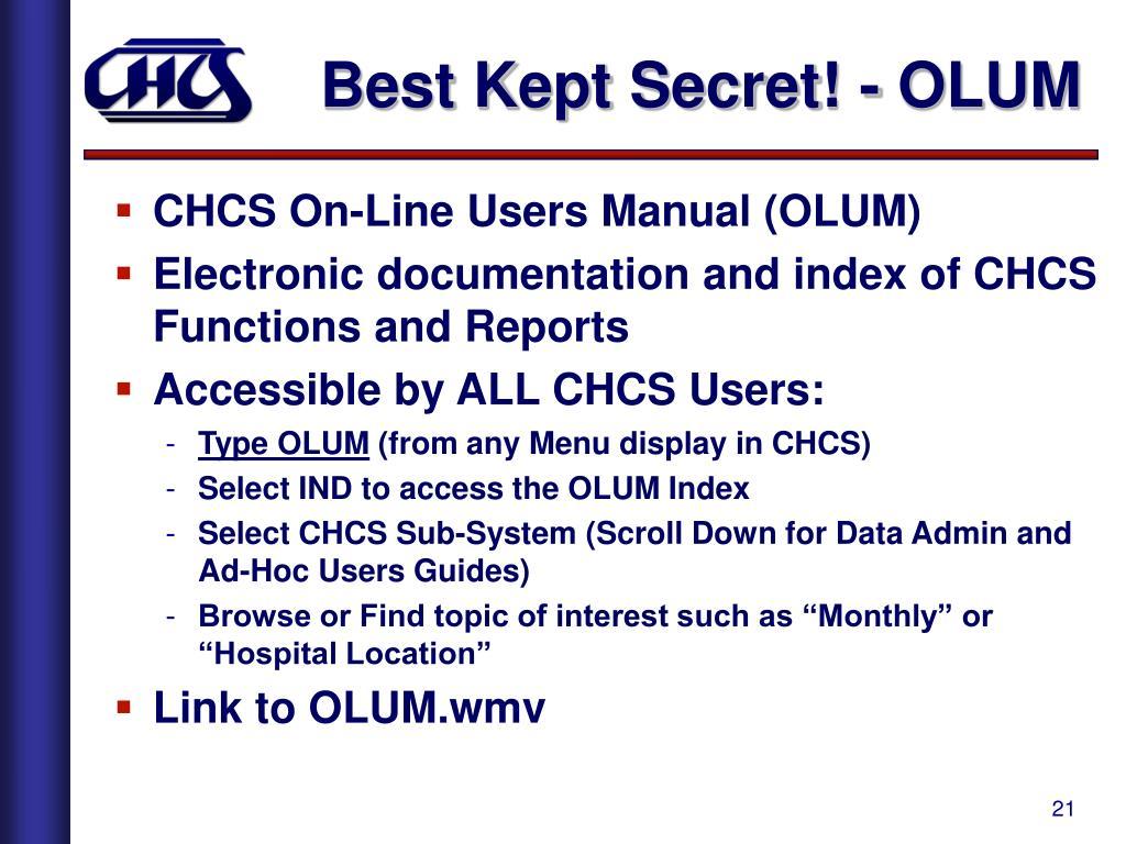 Best Kept Secret! - OLUM