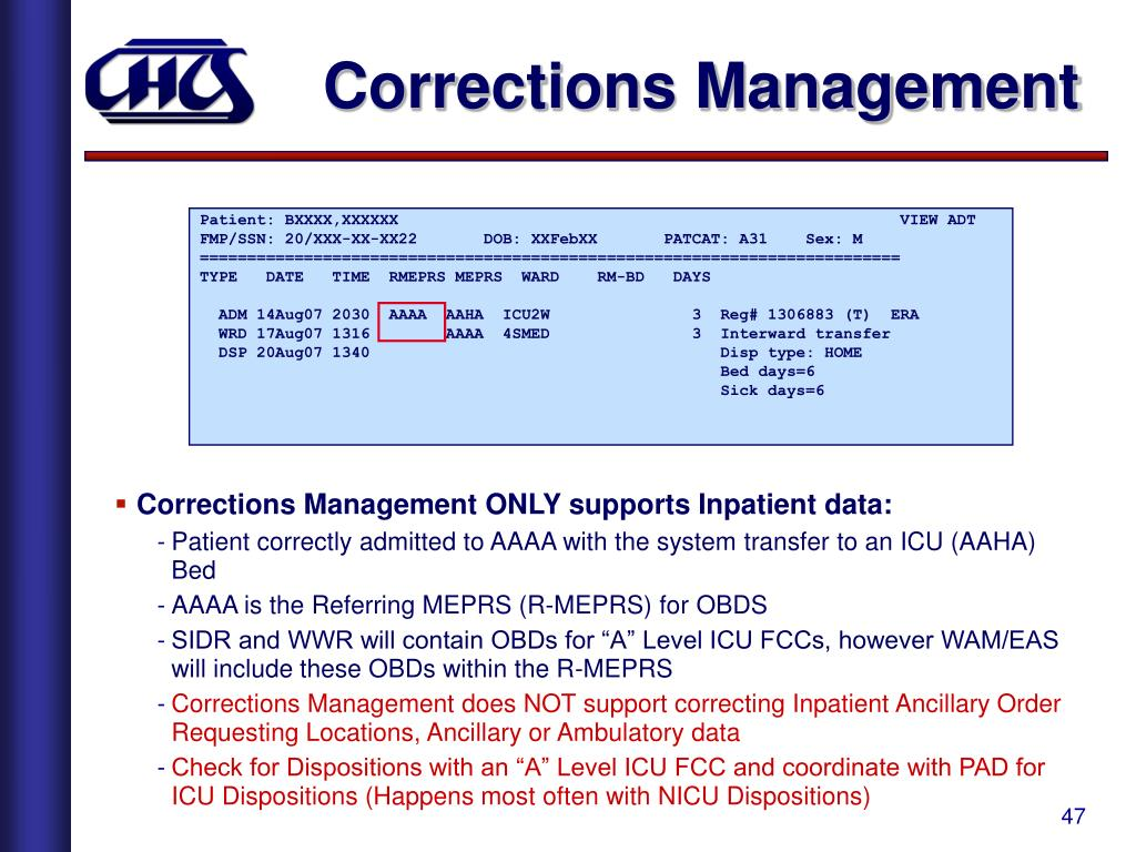 Corrections Management