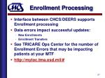 enrollment processing