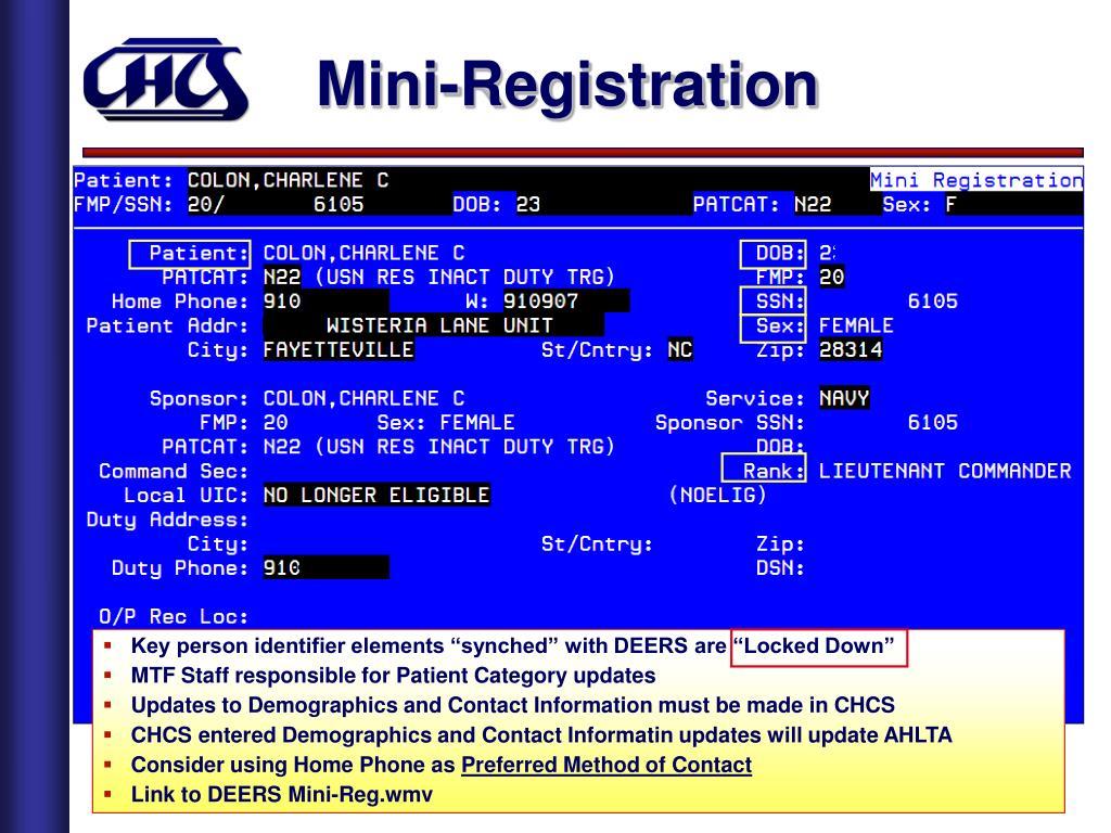 Mini-Registration