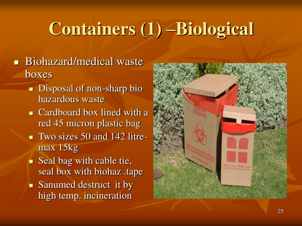 Containers (1) –Biological