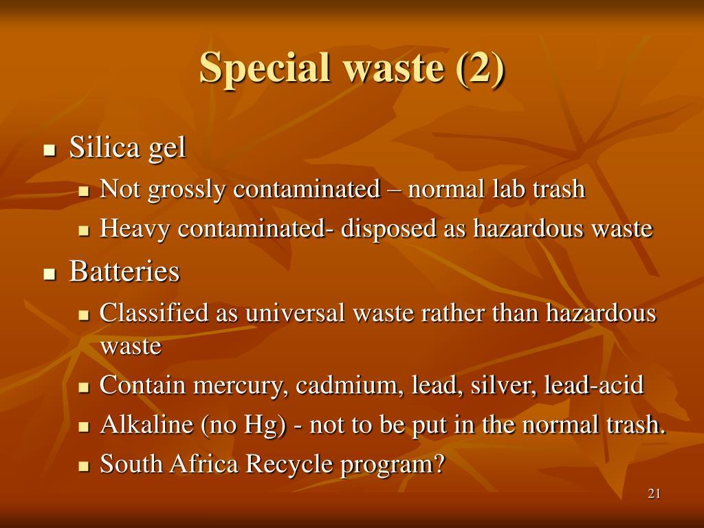 Special waste (2)