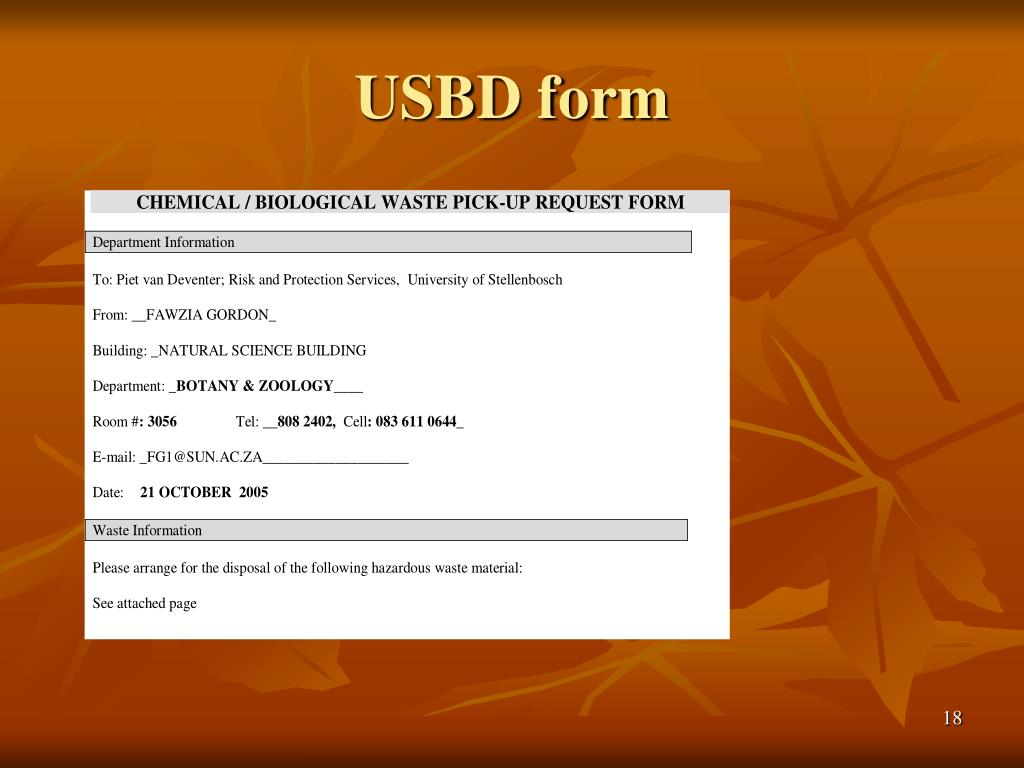 USBD form