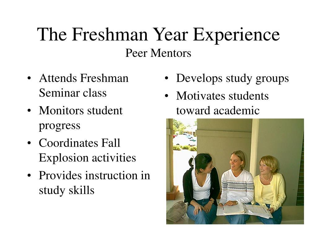 Attends Freshman Seminar class