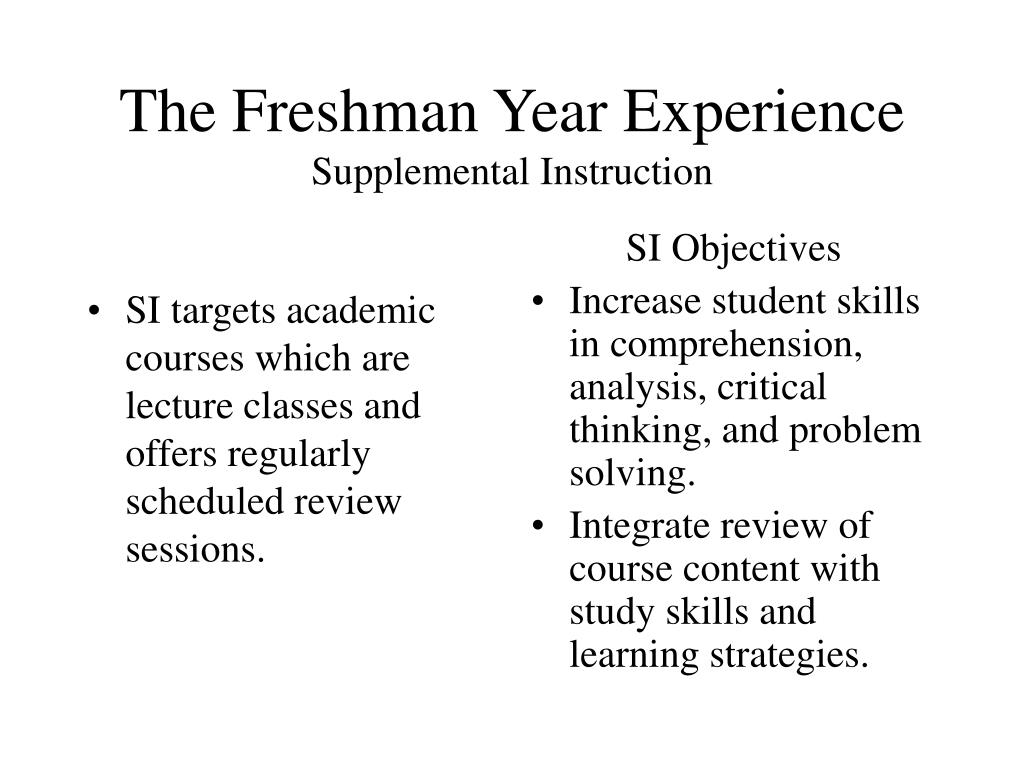 SI targets academic courses which are lecture classes and offers regularly scheduled review sessions.