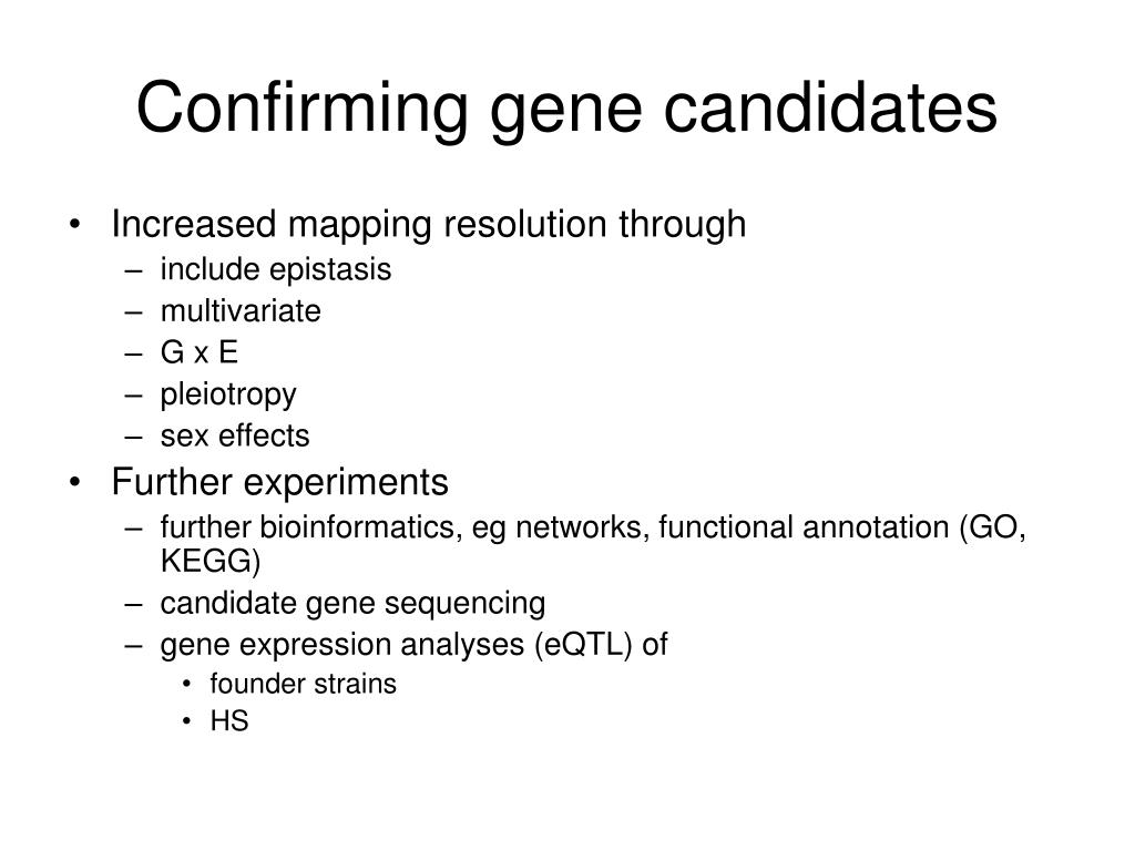 Confirming gene candidates