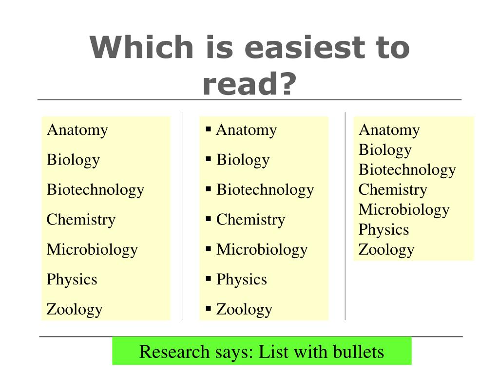 Which is easiest to read?