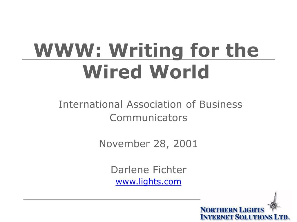 WWW: Writing for the Wired World
