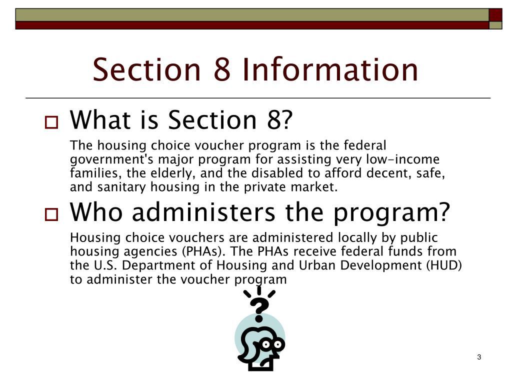 PPT - Section 8 Housing Choice Voucher Program LANDLORD ...