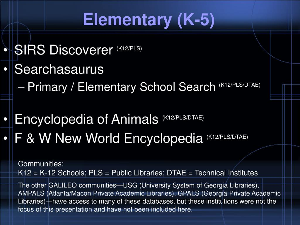 Elementary (K-5)