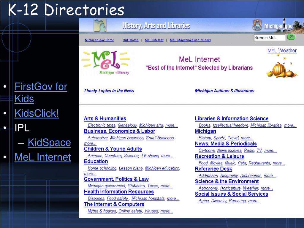 K-12 Directories