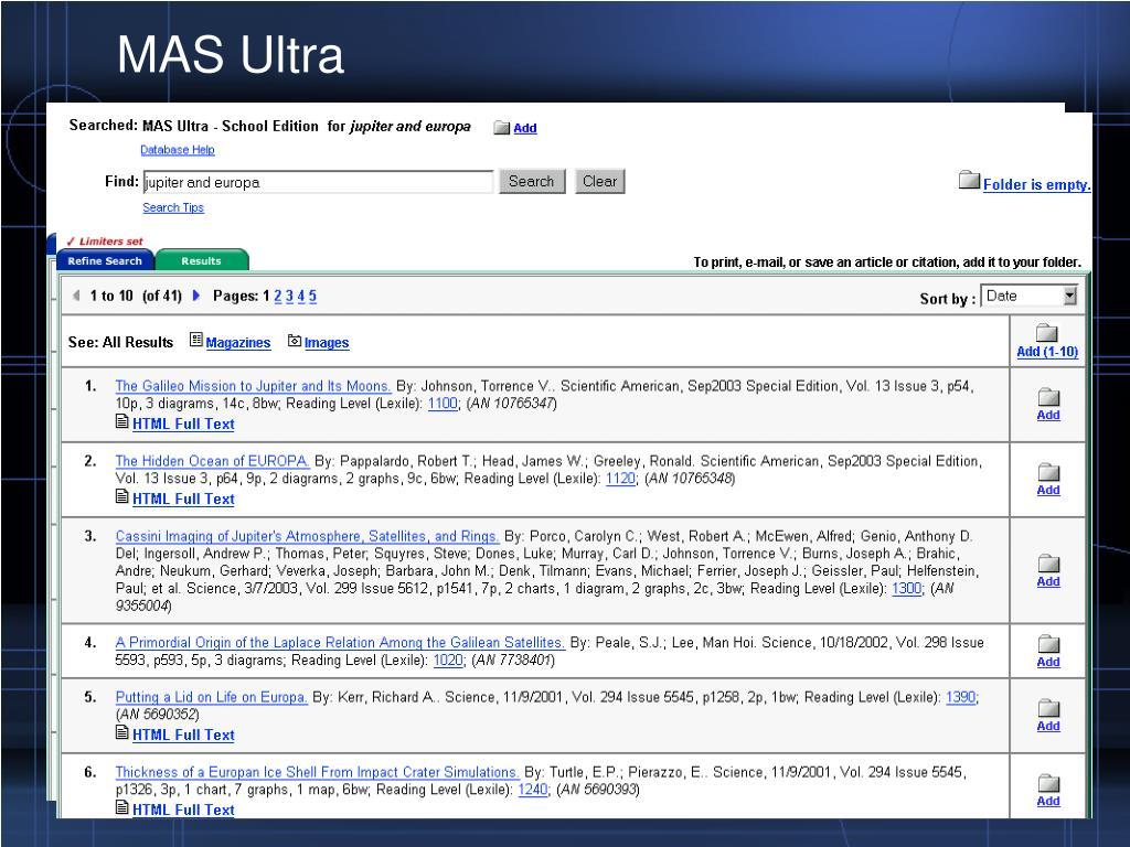 MAS Ultra