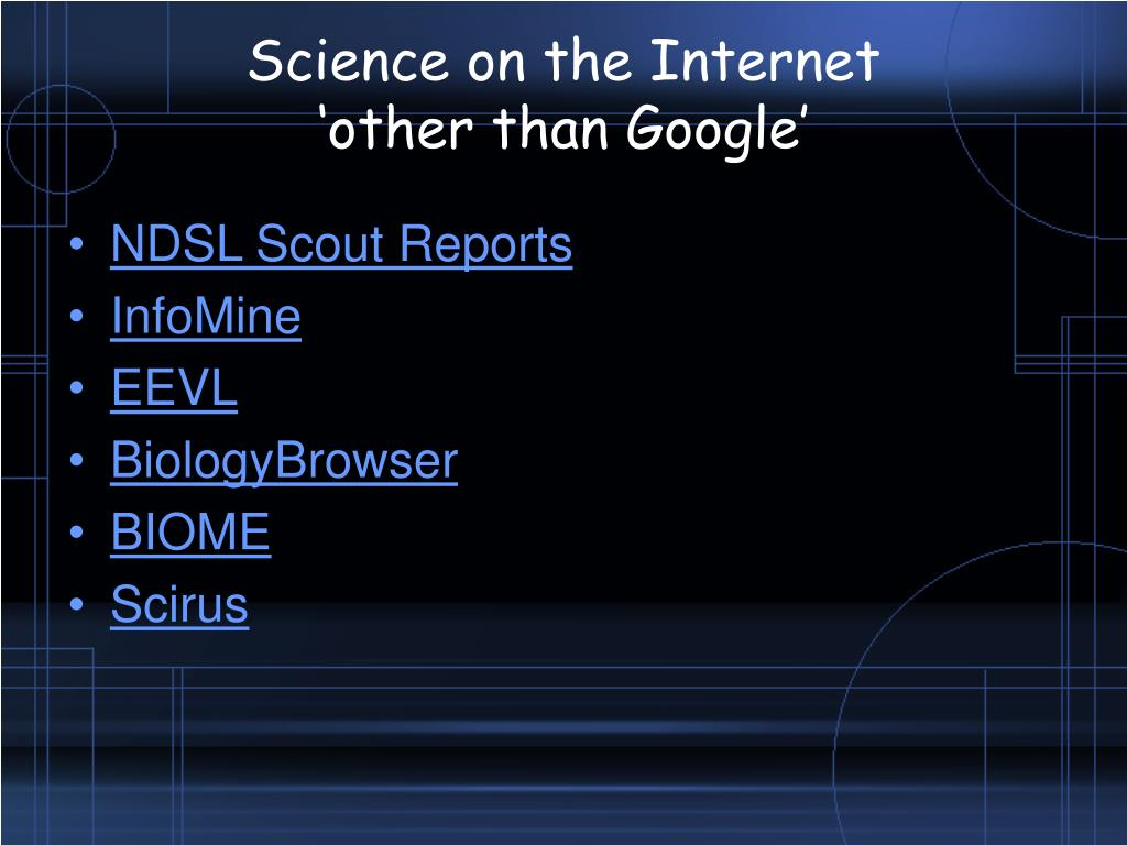 Science on the Internet