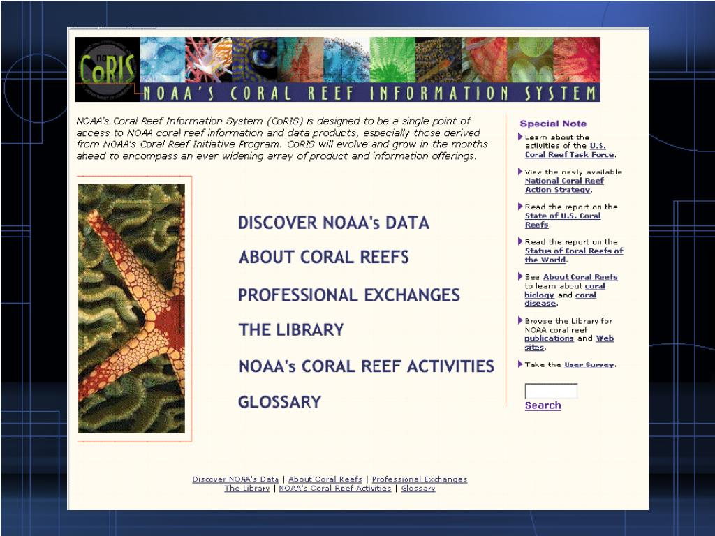 CoRIS (Coral Reef Information System)