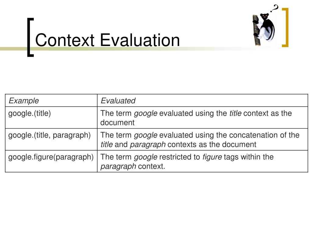 Context Evaluation