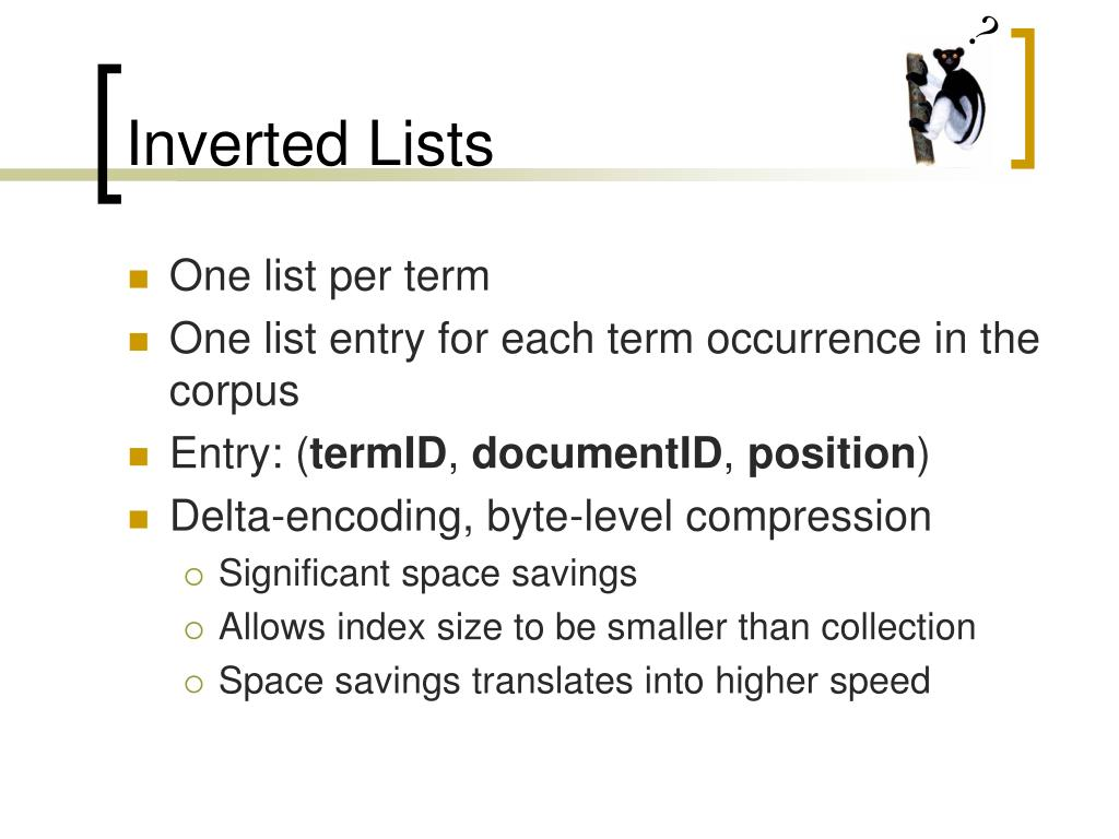 Inverted Lists