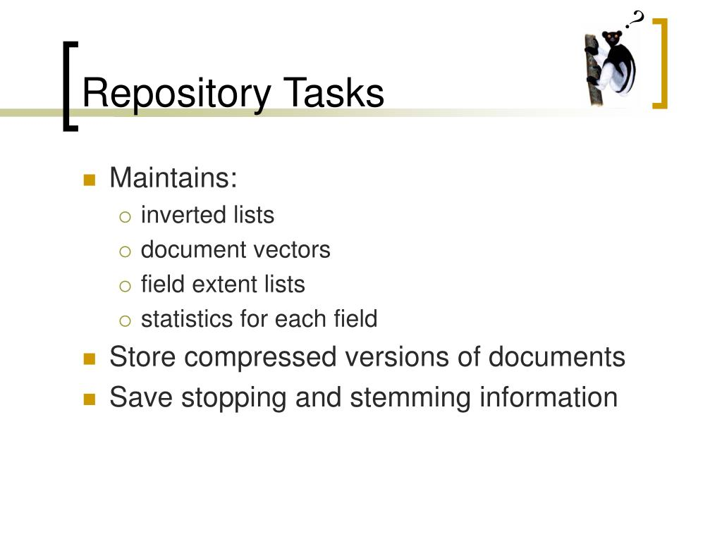 Repository Tasks