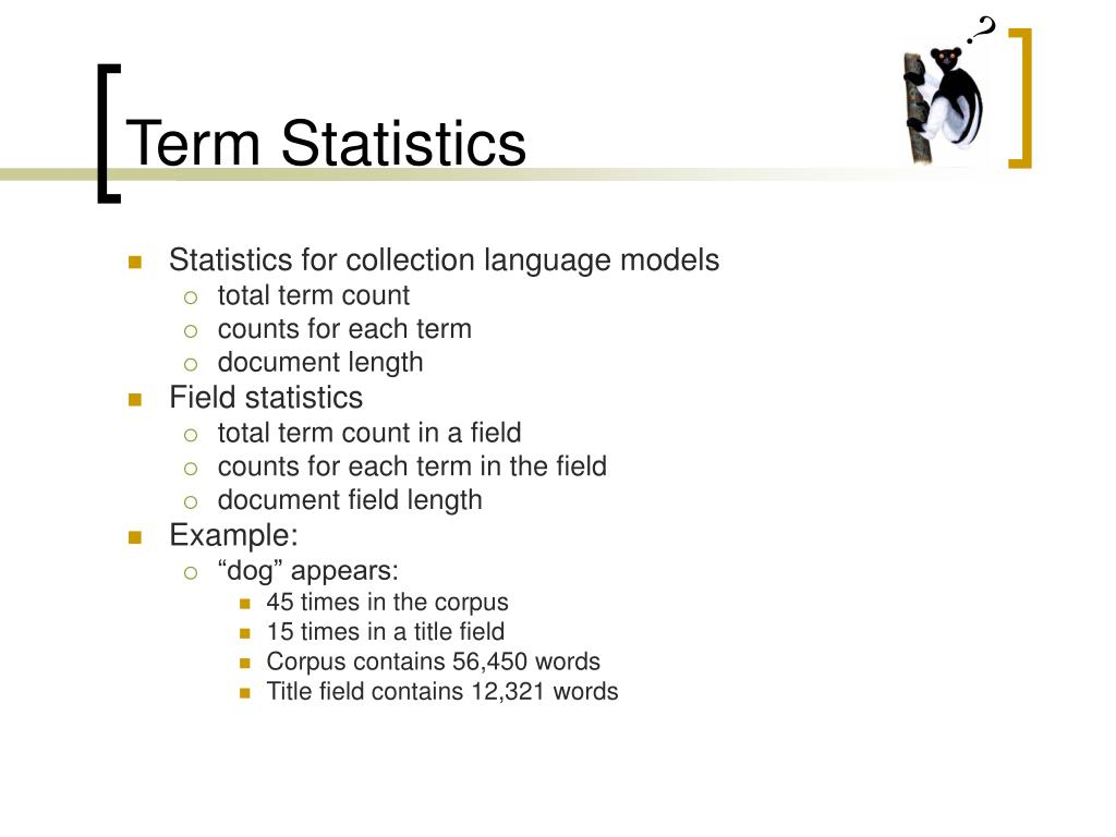Term Statistics