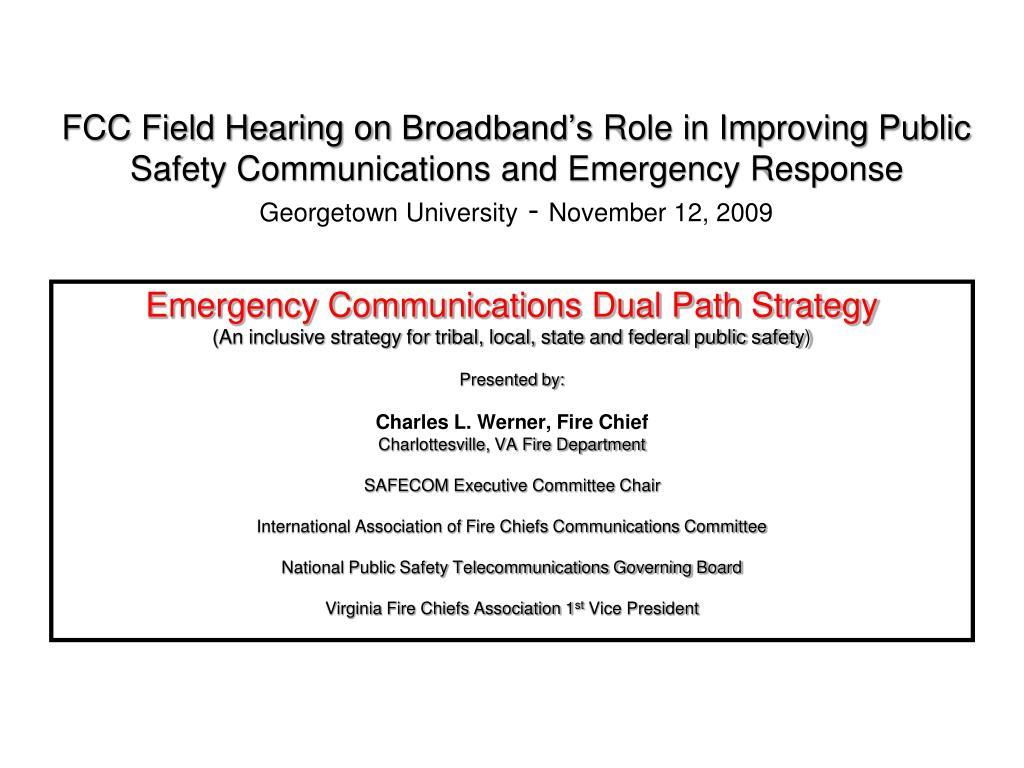 FCC Field Hearing on