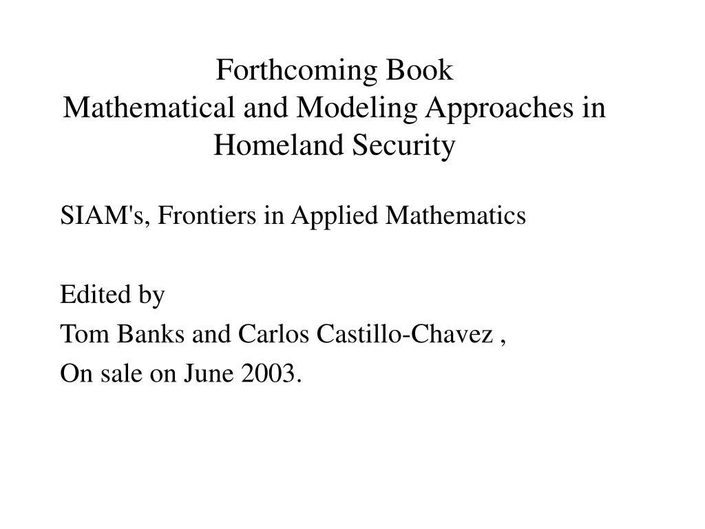 Forthcoming Book