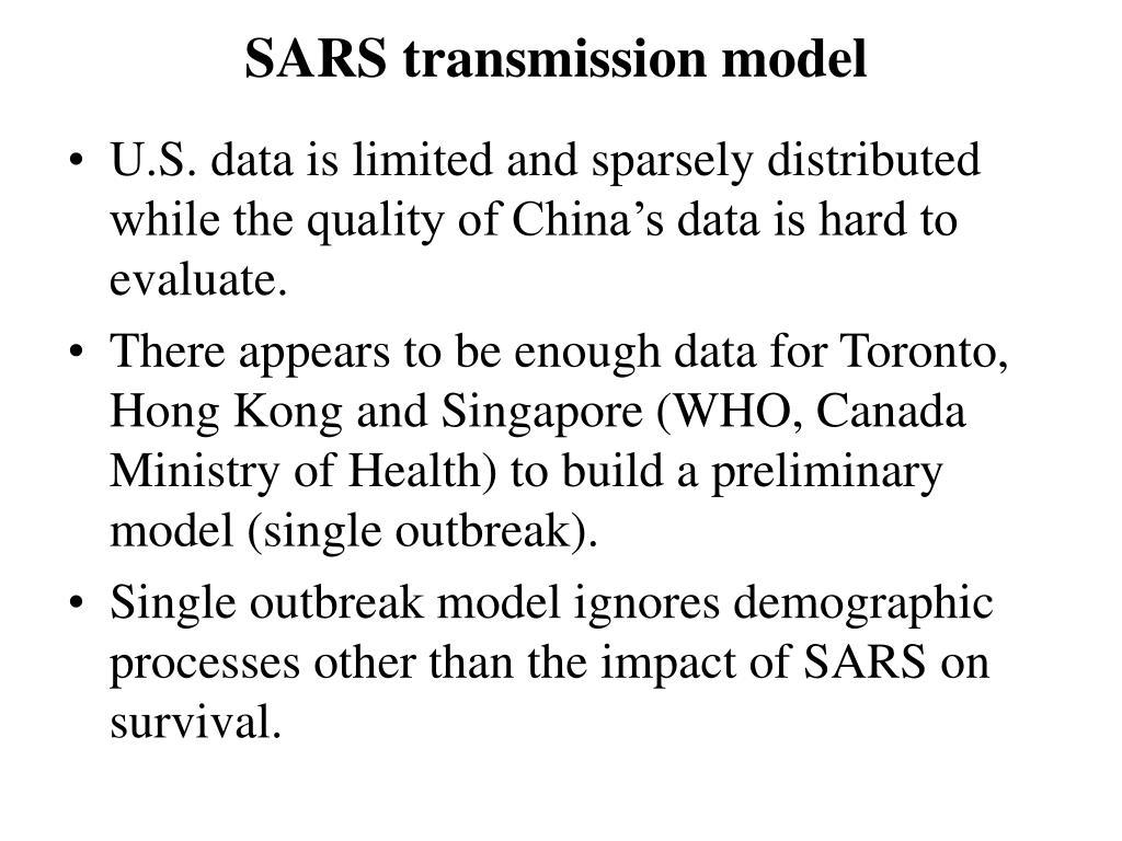 SARS transmission model