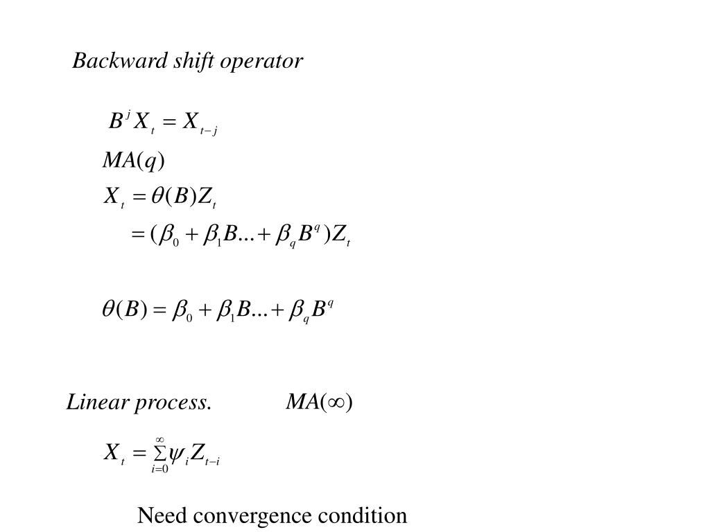 Backward shift operator