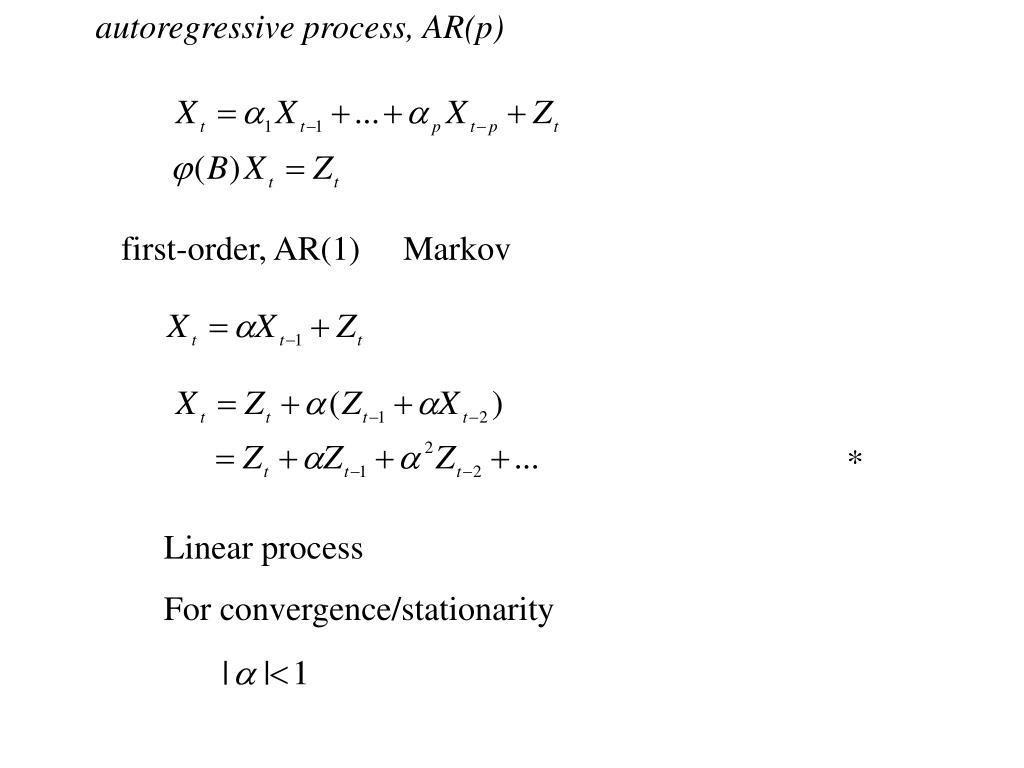 autoregressive process, AR(p)