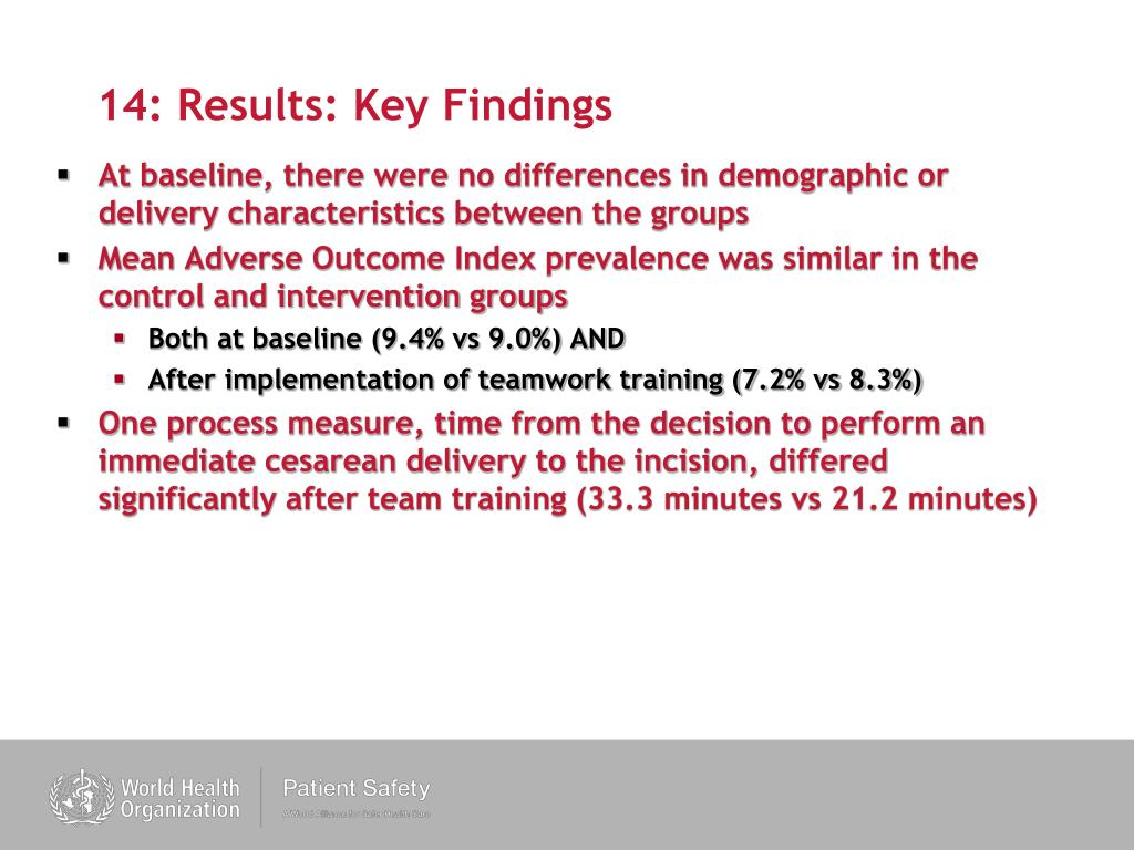 14: Results: Key Findings