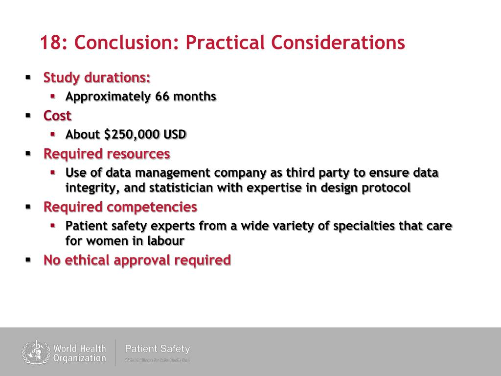 18: Conclusion: Practical Considerations