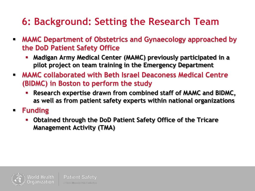 6: Background: Setting the Research Team