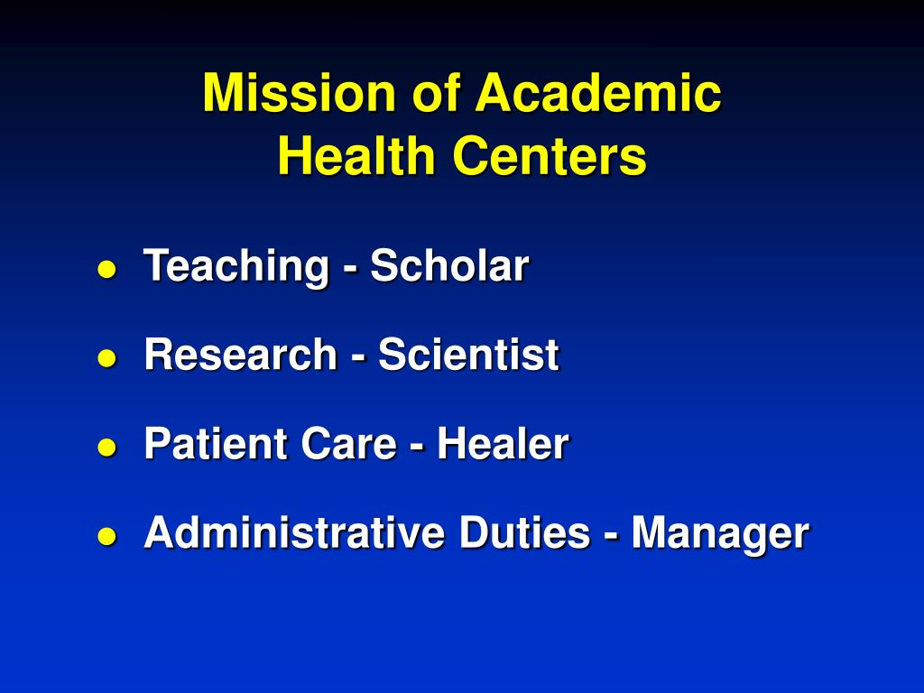 Mission of Academic