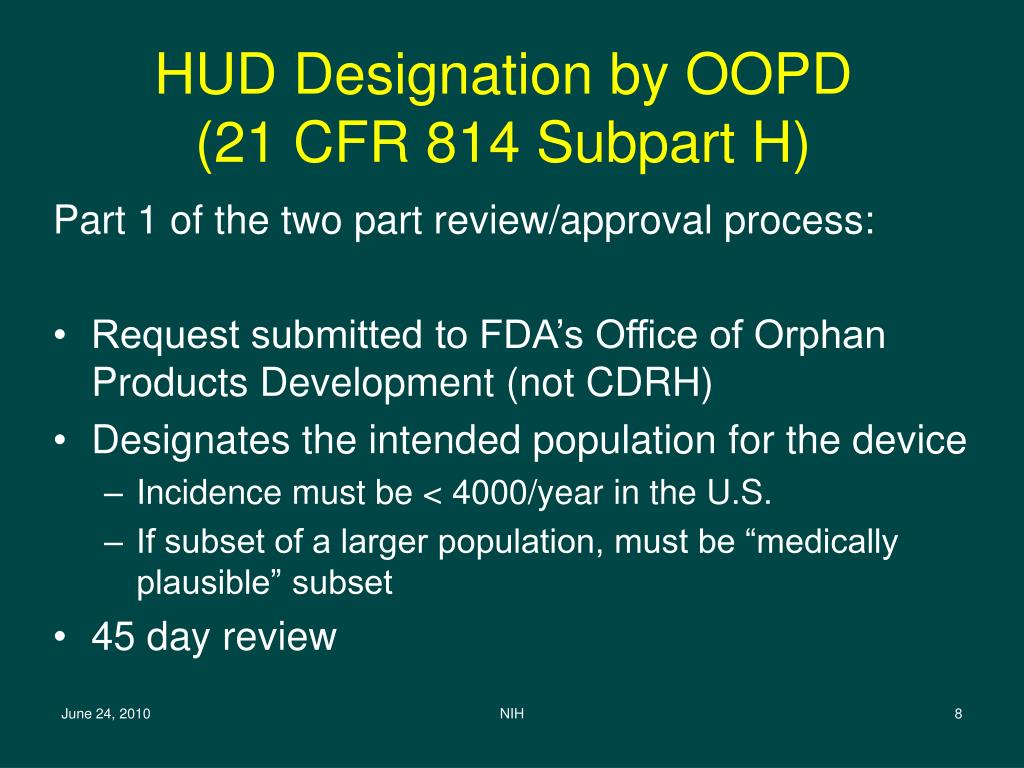 HUD Designation by OOPD