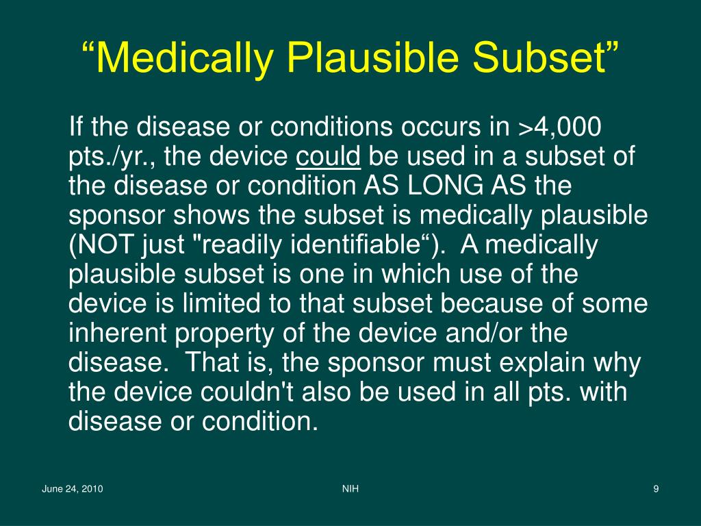 """Medically Plausible Subset"""