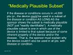 medically plausible subset