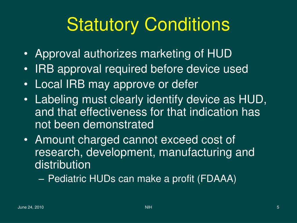 Statutory Conditions