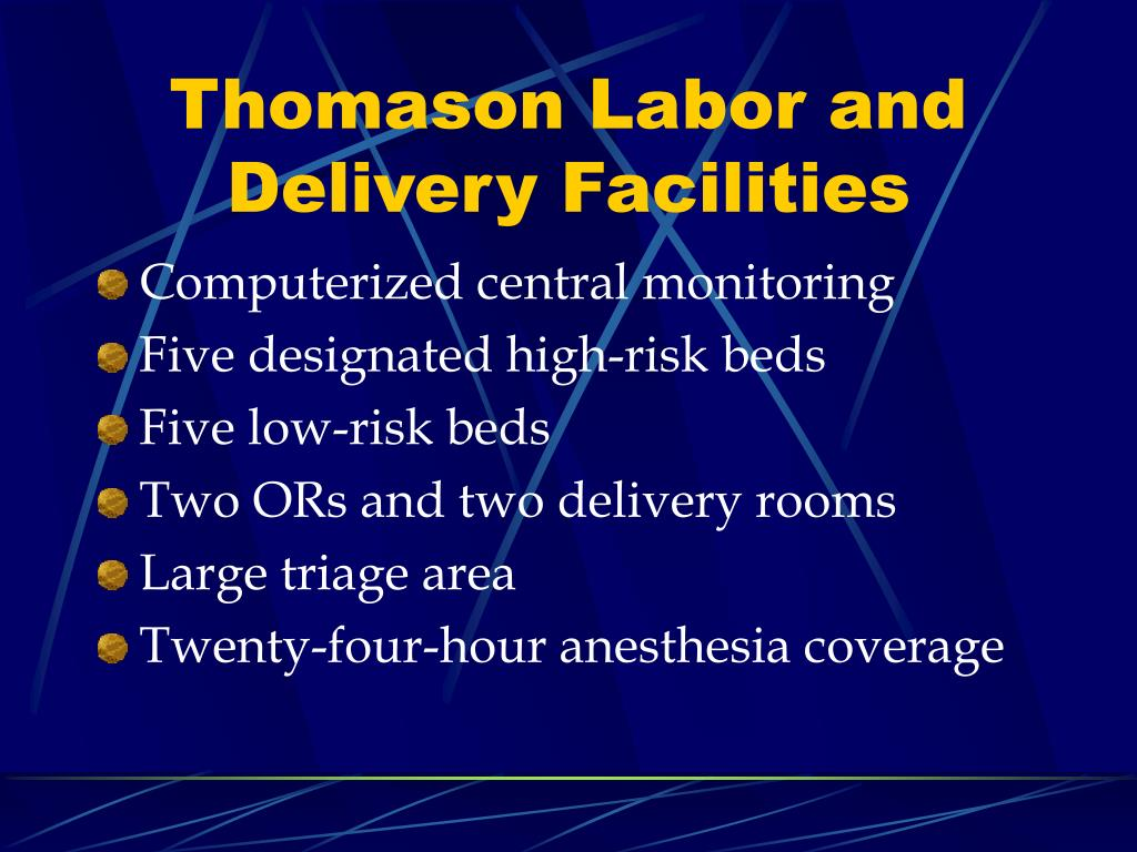Thomason Labor and Delivery Facilities