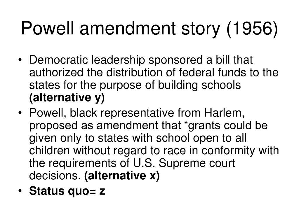 Powell amendment story (1956)