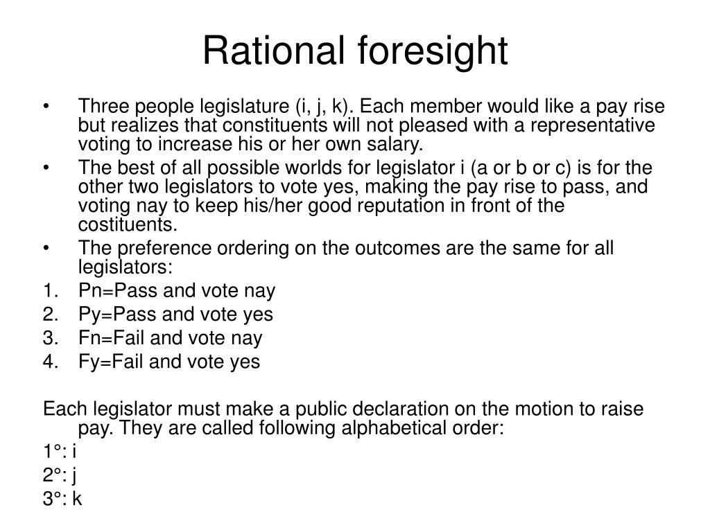 Rational foresight