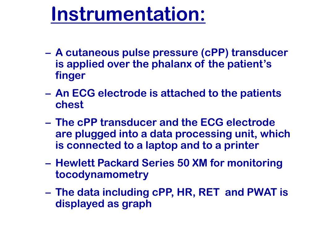 Instrumentation: