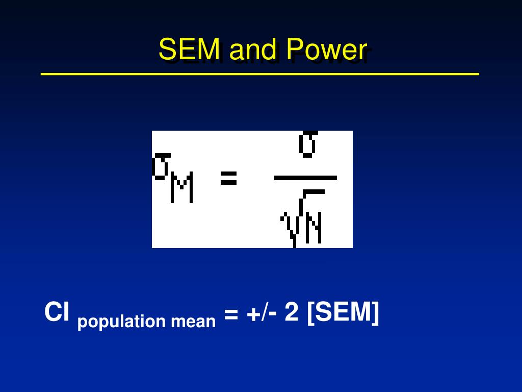 SEM and Power