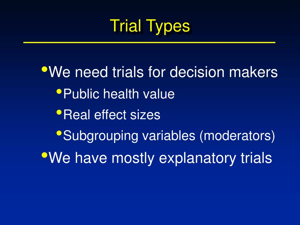 Trial Types