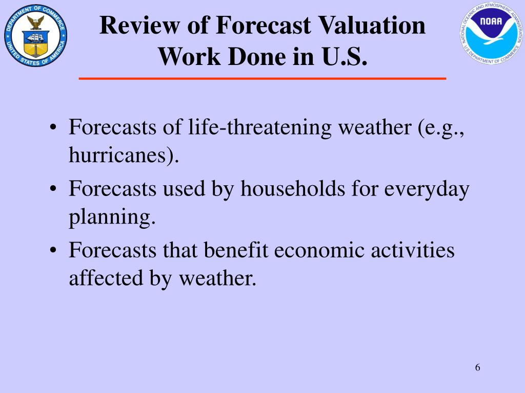 Review of Forecast Valuation