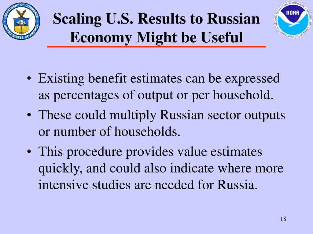 Scaling U.S. Results to Russian Economy Might be Useful