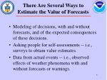 there are several ways to estimate the value of forecasts