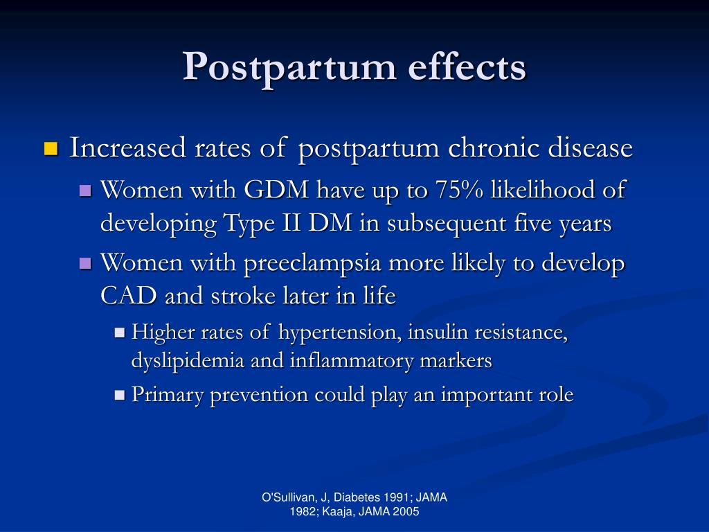 Postpartum effects