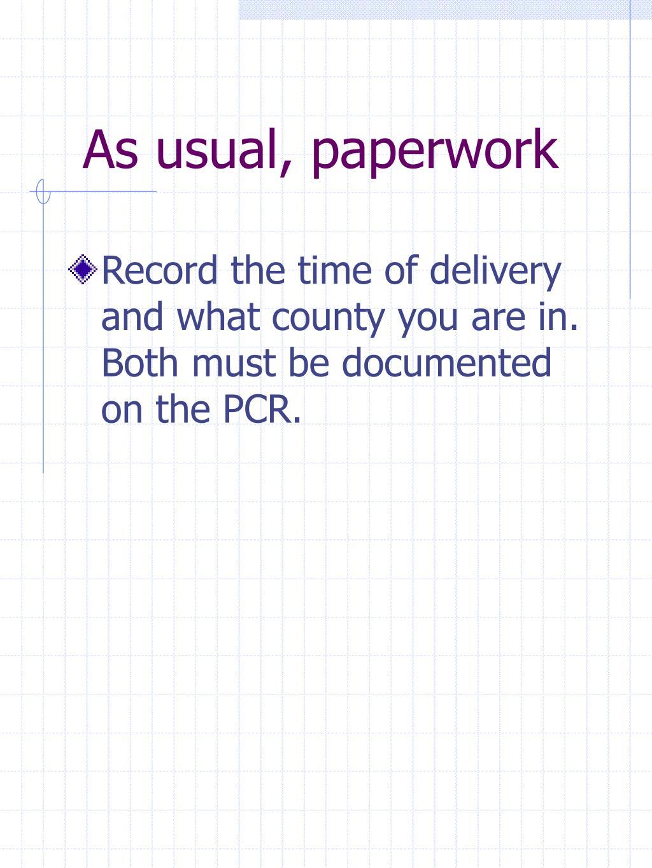 As usual, paperwork