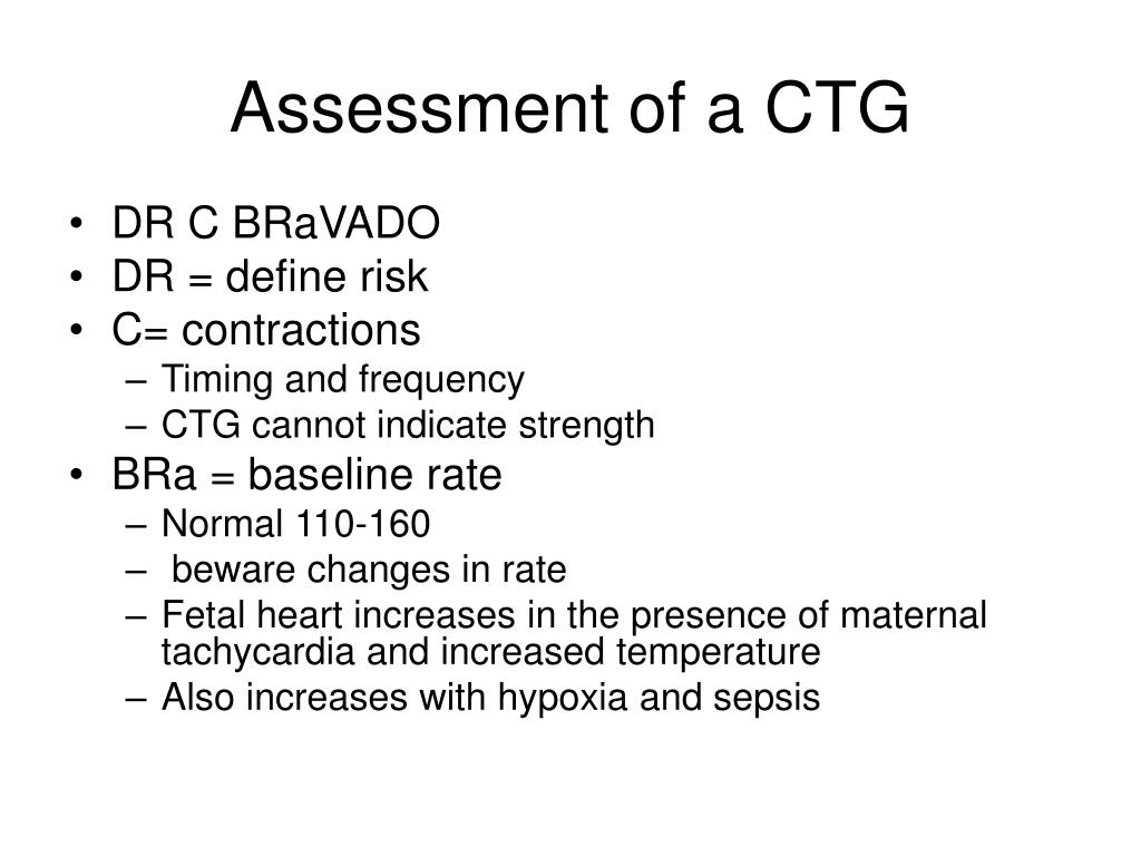 Assessment of a CTG