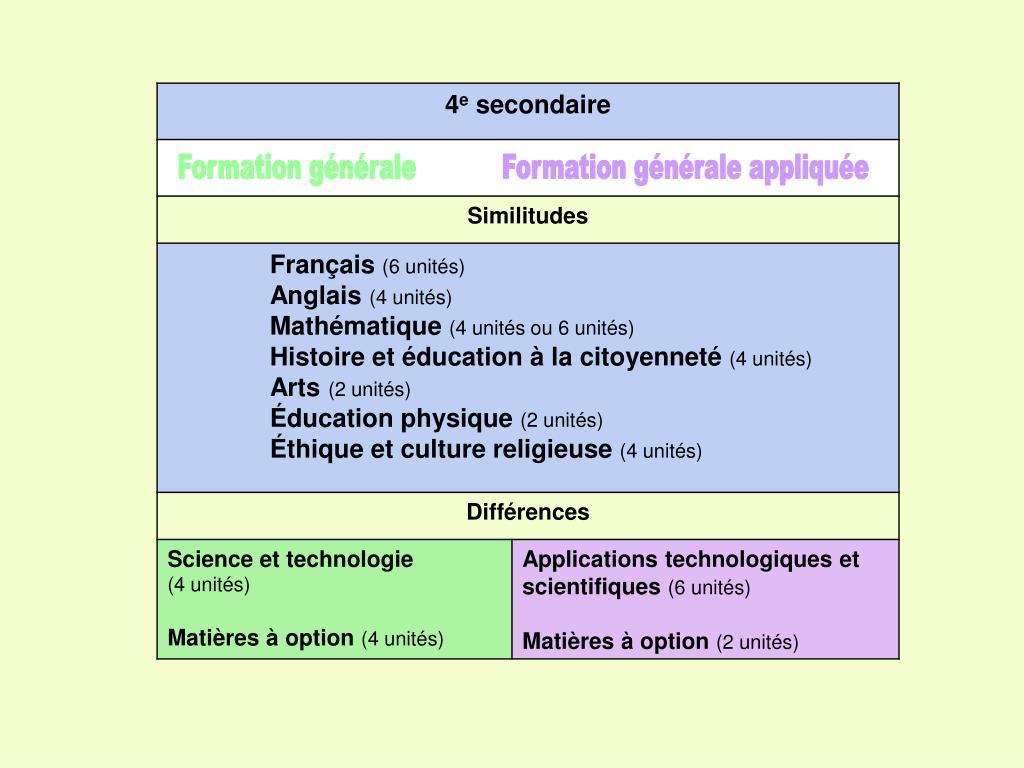 Formation générale